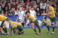 Australian scrum half Jeremy Su'a moves play wide during the Division A U19 World Championship clash at Ravenhill.