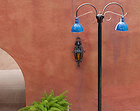 Lamp post in colorful La Placitas Village.