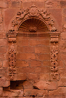 A weathered niche stands in the wall of the sacristy at the ruins if the Jesuit mission church at Jesus de Tavarangue, Paraguay. Scores of Jesuit missions in the area where Paraguay, Argentina and Brazil meet were built in the 17th century and abandoned when the Jesuits were expelled in the 18th century. Ruins of some of these missions still haunt hilltops in the region. (Kevin Moloney for the New York Times)