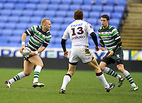 READING, ENGLAND :  Shane Geraghty of London Irish prepares to make a pass during the Amlin Challenge Cup match between London Irish and Bordeaux-Begles at Madejski Stadium on January 18, 2013 in Reading, England.