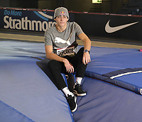 14th February 2020; Glasgow, Scotland;  Mondo Duplantis SWE at a pre-event photocall. Mondo Duplantis SWE Pole Vault  Still only 20 years of age, Duplantis is the reigning European champion and world silver medallist
