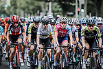 The peloton including World Champion Annemiek Van Vleuten (NED) Mitchelton-Scott in action during La Course By Le Tour de France 2020, running 96km from Nice to Nice, France. 29th August 2020.<br /> Picture: ASO/Thomas Maheux | Cyclefile<br /> All photos usage must carry mandatory copyright credit (© Cyclefile | ASO/Thomas Maheux)