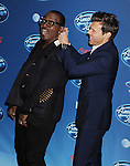 WESTWOOD, CA - JANUARY 09: Randy Jackson and Ryan Seacrest attend the FOX's 'American Idol' Season 12 Premiere at Royce Hall on the UCLA Campus on January 9, 2013 in Westwood, California.