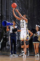 11 November 2011:  FIU's Jerica Coley (22) shoots a jump shot in the first half as the FIU Golden Panthers defeated the Jacksonville University Dolphins, 63-37, at the U.S. Century Bank Arena in Miami, Florida.