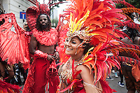 Dancers at Notting Hill Carnival, London, August 29th 2016
