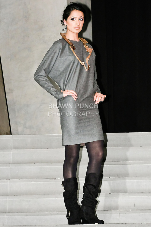 Sona Karia poses in an outfit during the IAAC Global Runway's Night Out with Misha Nicole on April 15 2010.