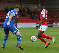 Fleetwood Town's Jordy Hiwula  <br /> <br /> Photographer Andrew Kearns/CameraSport<br /> <br /> The Carabao Cup First Round - Fleetwood Town v Carlisle United Kingdom - Tuesday 8th August 2017 - Highbury Stadium - Fleetwood<br />  <br /> World Copyright &copy; 2017 CameraSport. All rights reserved. 43 Linden Ave. Countesthorpe. Leicester. England. LE8 5PG - Tel: +44 (0) 116 277 4147 - admin@camerasport.com - www.camerasport.com