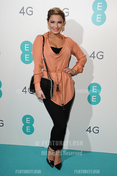 Sam Faiers arriving for the Everything Everywhere 4G launch party at Battersea Power Station, London. 01/11/2012 Picture by: Steve Vas / Featureflash