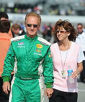 May 2, 2008; Richmond, VA, USA; NASCAR Nationwide Series driver Morgan Shepherd with wife Cindy Shepherd during the Lipton Tea 250 at the Richmond International Raceway. Mandatory Credit: Mark J. Rebilas-