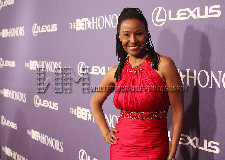 B. Smith arriving for the BET Honors 2012 at the Warner Theatre on January 14, 2012 in Washington, DC.