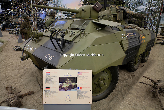 Display in the Overloon War Museum, Boxmeer, The Netherlands