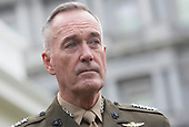 The Chairman of the Joint Chiefs of Staff United States Marine Corps General Joseph Dunford listens to a statement  being made on a possible military response at The White House in Washington, DC on the recent North Korea missile launch, September 3, 2017.<br /> Credit: Chris Kleponis / Pool via CNP