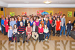 Maura O'Connor, Headford, Killarney, pictured with her family and friends as she celebrated her retirement from HSE Kerry Mental Health service after 33 years, in Darby O'Gills hotel, Killarney on Saturday night.......................
