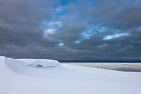 Snow drifts, Barter Island, Arctic National Wildlife Refuge, Alaska.