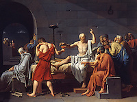 Jacques Louis David 1748-1825.  The Death of Socrates, 1787.  Met. Museum of Art.  Reference only.