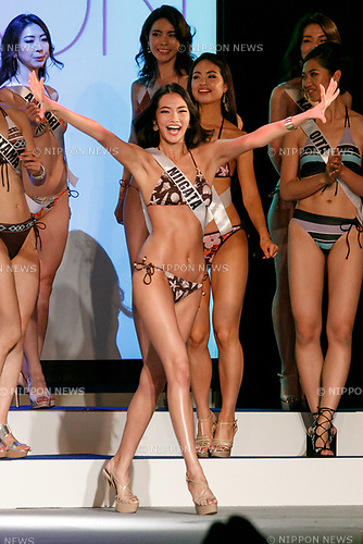 Miss Niigata, Haruka Komagata, competes in the swimsuit category during Miss Universe Japan competition at Hotel Chinzanso Tokyo on July 4, 2017, Tokyo, Japan. Momoko Abe from Chiba who won the title will represent Japan in the next Miss Universe competition. (Photo by Rodrigo Reyes Marin/AFLO)