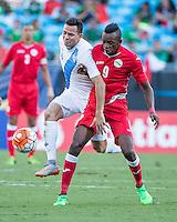 CHARLOTTE, NORTH CAROLINA - July 15, 2015: The 2015 Concacaf Gold Cup Cuba vs Guatemala at Bank of America Stadium.  Final score Cuba 1 Guatemala 0.