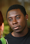 14 March 2008: Freddy Adu. The United States U-23 Men's National Team held media interviews at the Doubletree Guest Suites Tampa Bay in Tampa, FL during the 2008 CONCACAF's Men's Olympic Qualifying Tournament.