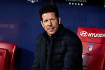 Diego Pablo Simeone coach of Atletico de Madrid during La Liga match between Atletico de Madrid and Granada CF at Wanda Metropolitano Stadium in Madrid, Spain. February 08, 2020. (ALTERPHOTOS/A. Perez Meca)