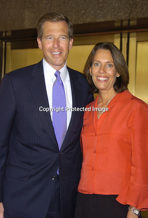 Brian Williams and wife Jane ..at The NBC Universal Upfront announcement of their new Fall Schedule on May 16, 2005 at Radio City Music Hall. ..Photo by Robin Platzer, Twin Images