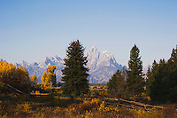 Grand Teton range, Oxbow Bend, Grand Teton National Park, Wyoming, USA