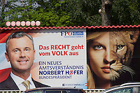 Vienna, Austria. Presidential Elections 2016. Election posters. Norbert Hofer.