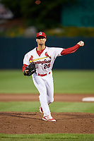 Springfield Cardinals pitcher Chandler Hawkins (28) delivers a pitch during a game against the Corpus Christi Hooks on May 31, 2017 at Hammons Field in Springfield, Missouri.  Springfield defeated Corpus Christi 5-4.  (Mike Janes/Four Seam Images)