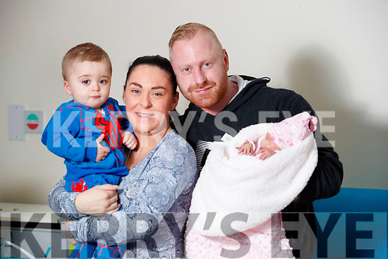 Joanie and Declan Moore, Killarney with son Logan (One and a half) and Baby Hannah who was born at University Hospital Kerry on New Years Day.
