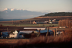 Whidbey Island, Farmland Preservation, Ebey's Landing National Historical Reserve, Ebey's Prairie, Engle Farm, Puget Sound, Olympic Mountains, Washington State, Pacific Northwest, Island County, WWRP,.