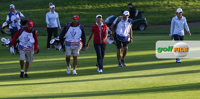 Alison Lee (USA) heads down the 15th during Friday afternoon's Four-balls, at The Solheim Cup 2015 played at Golf Club St. Leon-Rot, Mannheim, Germany.  18/09/2015. Picture: Golffile | David Lloyd<br /> <br /> All photos usage must carry mandatory copyright credit (&copy; Golffile | David Lloyd)