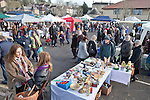 02/12/2012 Frome Christmas Super Market, flea market and artisan market encompassing Cheese and Grain car park, Market Place, Westway Precinct, Stony Street and Catherine Hill. The Cattle Market car park gets busy with bargain hunters.