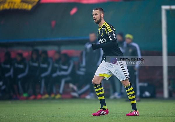 Solna 2014-02-15 Fotboll Tr&auml;ningsmatch AIK - IF Elfsborg :  <br /> AIK:s Alexander Milosevic<br /> (Foto: Kenta J&ouml;nsson) Nyckelord:  portr&auml;tt portrait