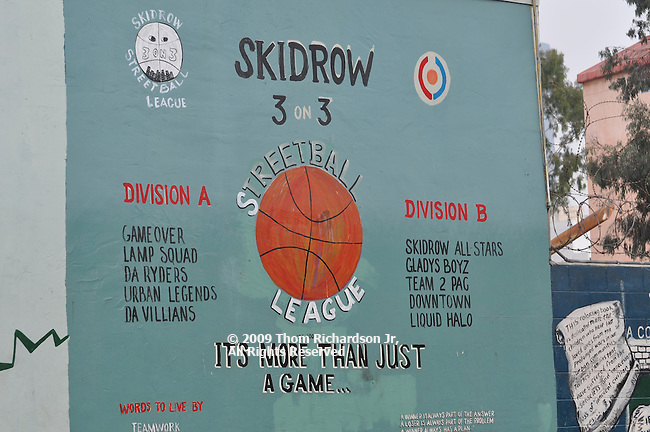 Various views of LA's Skid Row