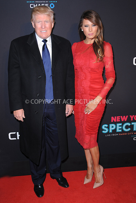 WWW.ACEPIXS.COM<br /> March 26, 2015 New York City<br /> <br /> Donald Trump and Melania Trump attending the 2015 New York Spring Spectacular at Radio City Music Hall on March 26, 2015 in New York City.<br /> <br /> Please byline: Kristin Callahan/AcePictures<br /> <br /> ACEPIXS.COM<br /> <br /> Tel: (646) 769 0430<br /> e-mail: info@acepixs.com<br /> web: http://www.acepixs.com