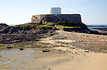 Built in 1804 Fort Grey is a napoleonic period martello tower which now houses a shipwreck museum, Guernsey, Channel Islands