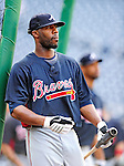 24 September 2010: Atlanta Braves outfielder Jason Heyward awaits his turn in the batting cage prior to facing the Washington Nationals at Nationals Park in Washington, DC. The Nationals defeated the Braves 8-3 to take the first game of their 3-game series. Mandatory Credit: Ed Wolfstein Photo