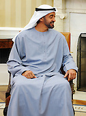 Crown Prince Mohammed bin Zayed Al Nahyan of the United Arab Emirates looks on during his discussions with United States President Barack Obama in the Oval Office of the White House on Tuesday, April 26, 2011  in Washington D.C. The President discussed and the Crown Prince discussed the strong ties between the United States and the UAE and their common strategic interests in the region..Credit: Olivier Douliery / Pool via CNP