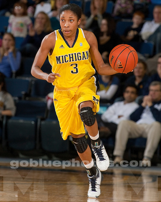 University of Michigan women's basketball 64-51 victory over #12 Ohio State at Crisler Arena in Ann Arbor, MI, on December 30, 2010.