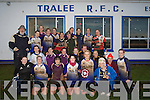 RUGBY: The Lady's Rugby team from Tralee who defeated the Ladies Exiles in Tralee Rugby Club on St Stephens Day with Jay Galvin (Director of Rugby Tralee Rugby Club) and  Mike Keane(Refree), Mary Leen, Niamh Dempsey, Noreen Cleary, Siobhan Fleming, Trish Fitzpatrick, Lorna O'Connor, Ruth O'Reilly, Helen Brosnan, Sharon Lynch, Aine O'Sullivan, Ann O'Callaghan, Catherine Doolan, Breda Slattery, Michelle Barry, Leanne McCarthy, Angelina Foley, Christine Arthur, Shauna Lynch, Eimear Foley, Laura O'Mahony, Emer O'Mahony, Lisa Brick and Rena O'Connor... ....