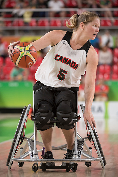 RIO DE JANEIRO - 16/9/2016:  Canada vs. People's Republic of China in Wheelchair Basketball Classification Playoff 5/6, Match 67 during the Rio 2016 Paralympic Games in Rio de Janeiro, Brazil. (Photo by Matthew Murnaghan/Canadian Paralympic Committee)