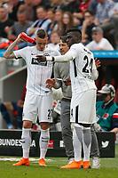 Leverkusen, Germany, 1. Football- BL,  match day 30,<br />Bayer Leverkusen - Eintracht Frankfurt 4-114 .04.2018  in Bay-Arena in Leverkusen<br />Trainer Niko KOVAC (FFM) - and Marius WOLF (FFM) - and Danny da COSTA (FFM)  -<br /><br /> *** Local Caption *** © pixathlon<br /> Contact: +49-40-22 63 02 60 , info@pixathlon.de