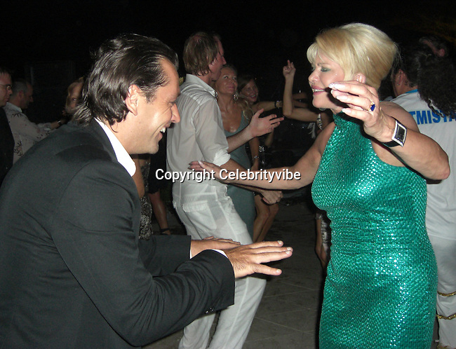 **EXCLUSIVE**.Ivana Trump dancing with her boyfriend Rossano Rubicondi.Tony Murray's Annual Summer Party.Private Villa.St. Tropez, France..Saturday, July 28, 2007.Photo By Celebrityvibe.com.To license this image please call (212) 410 5354; or Email: celebrityvibe@gmail.com ;.