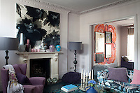 A double reception area was created on the first floor when Nicky Tibbles decided to remodel her Notting Hill home