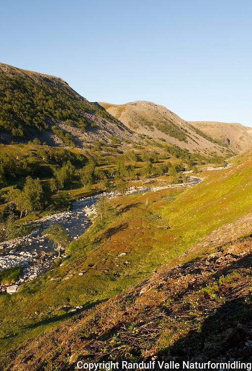 Djupvikelva på Sværholthalvøya. ---- River Djupvikelva on Sværholt peninsula in Finnmark.