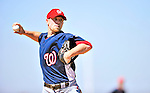 1 March 2010: Washington Nationals' relief pitcher Logan Kensing takes practice during Spring Training at the Carl Barger Baseball Complex in Viera, Florida. Mandatory Credit: Ed Wolfstein Photo