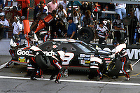 DAYTONA BEACH, FL - FEBRUARY 20: Dale Earnhardt makes a pit stop during the Daytona 500 on February 20, 1994, at the Daytona International Speedway in Daytona Beach, Florida.