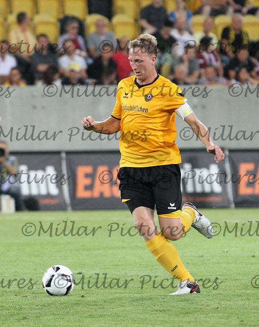 Marco Hartmann in the Dynamo Dresden v Everton match in the Bundeswehr Karriere Cup Dresden 2016 played at the DDV Stadion, Dresden on 29.7.16.