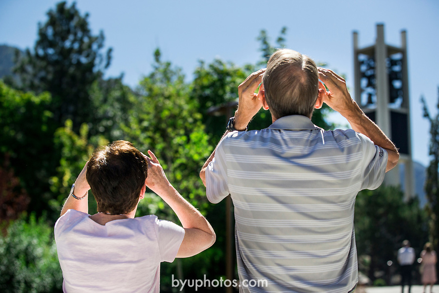 1708-56 Solar Eclipse on Campus 018<br /> 1708-56 Solar Eclipse on Campus <br /> <br /> <br /> August 21, 2017<br /> <br /> Photography by Gabriel Mayberry /BYU