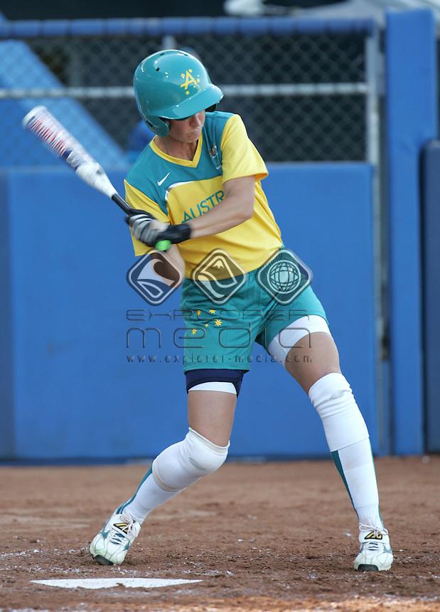 Sandra Allen (AUS)<br /> Softball - Women's Semi Final, Australia vs Japan<br /> Summer Olympics - Athens, Greece 2004<br /> Day 09, 22nd August 2004.<br /> &copy; Sport the library/Sandra Teddy
