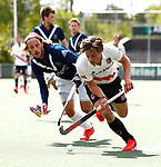 AMSTELVEEN  -  Boris Burkhardt (Adam) met pm2/  Hoofdklasse hockey ,competitie, heren, Amsterdam-Pinoke (3-2)  . COPYRIGHT KOEN SUYK